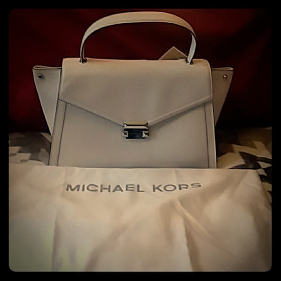 ef4352433f5f Michael Kors optic white purse